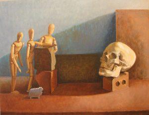 Et in arcadia ego, oil on canvas, 55 x 70cm