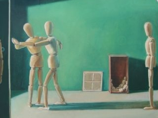 Green Room Rehearsal oil on canvas, 71 x 91cm