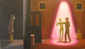 Last dance, oil on canvas, 40 x 71cm
