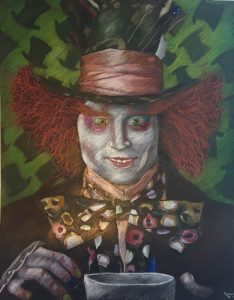 Mad hatter by emma wu, coloured pencil on paper, 50 x 65cm copy