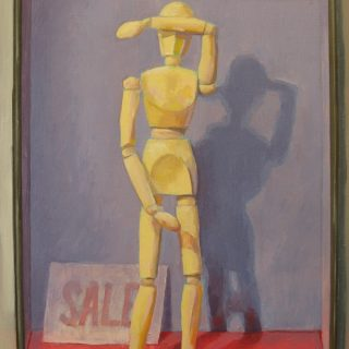 Reluctant Sale, oil on board, 45 x 30cm