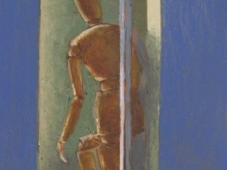 Studio study oil on board 31 x 16cm