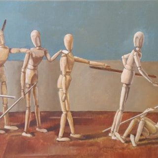 The Blind Leading the Blind, oil on canvas, 50 x 76cm