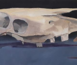 The Long Run, oil on canvas, 25 x 56cm