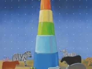 The tower oil on canvas 71 x 56cm