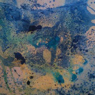 Coral sea acrylic on canvas board 50 x 45cm