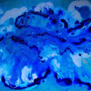 Cumulus clouds acrylic on canvas, 90 x 45cm