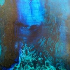Deep ocean cavern oil on canvas, 90 x 70cm