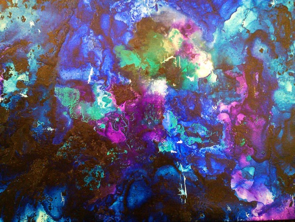 Event horizon oil on canvas 90 x 90cm copy