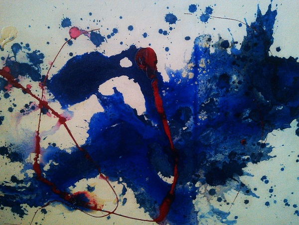 Out of the blue acrylic on canvas board 60 x 42cm