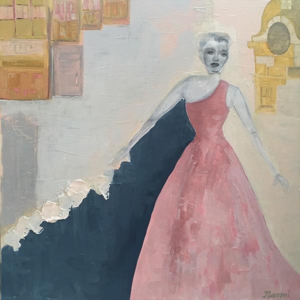 Avenue Montaigne oil & paper on canvas, 51 x 51cm copy