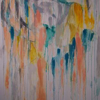 Storm oil on canvas, 155 x 104 5cm (inc frame)