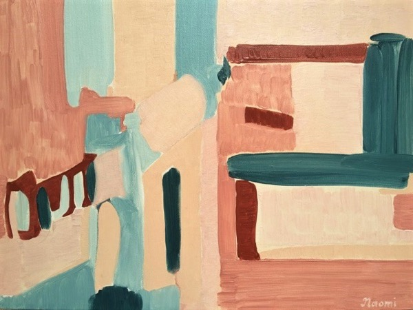Urban backdrop 4 43pm oil on canvas, 35 5 x 46cm