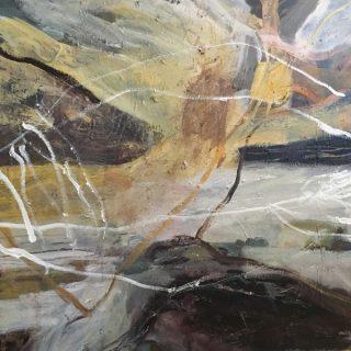 Ancestoral Lines, acrylic on canvas, 76 x 76cm
