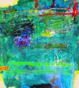Backwater 1, acrylic on canvas, 102 x 91cm