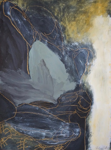 Beyond form series # 3, mixed media on paper, 89 x 70 cm