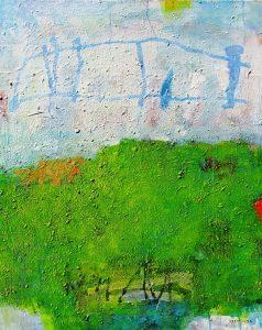 Blue bridge, acrylic on canvas, 100 x 80cm