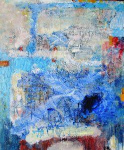 Blue harbour, acrylic on canvas, 102 x 84cm