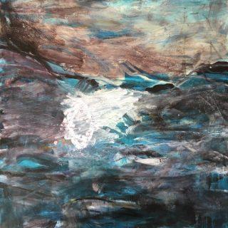 Breakthrough, acrylic on canvas, 101 x 101cm