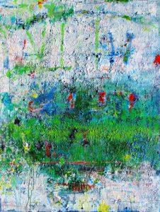 Crossing over, acrylic on canvas, 122 x 92cm