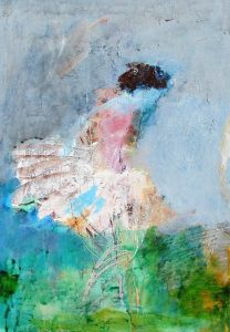 Dancer, acrylic on paper 42 x 30cm