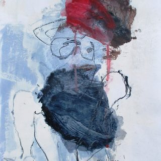 Deshabilee, acrylic on paper, 42 x 30cm