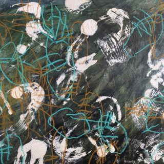 Dickinson Abstractions 2, acrylic & mixed media on paper, 74 x 93cm (incl mount)