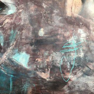 Ediacaran Imprints, acrylic & mixed media on paper, 74 x 93cm (incl mount)