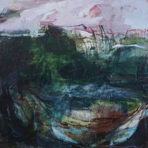 Evening tide acrylic on canvas, 91 x 91 cm