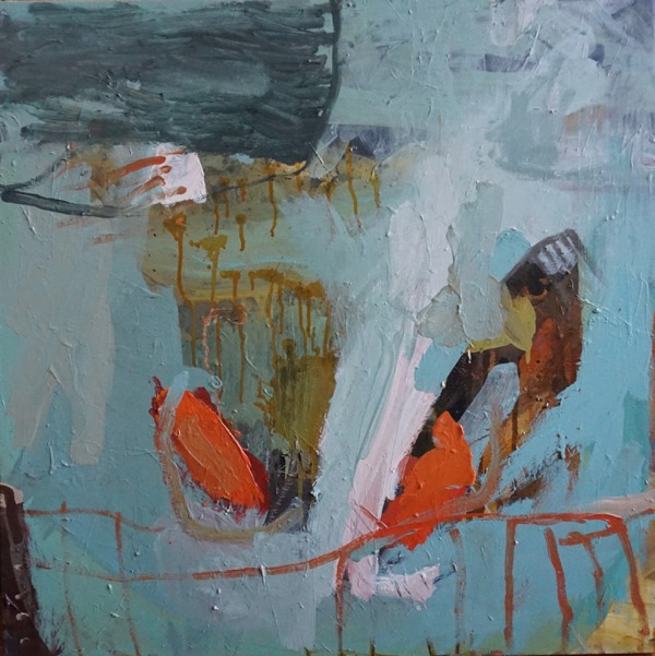 Fish out of water acrylic on canvas, 76 x 76 cm