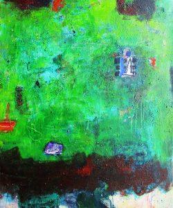 Grotto point acrylic on canvas 92 x 76cm