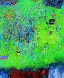 Hills of dobroyd, acrylic on canvas, 102 x 84cm