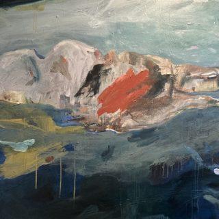 Into the Deep, acrylic on canvas, 101 x 101cm