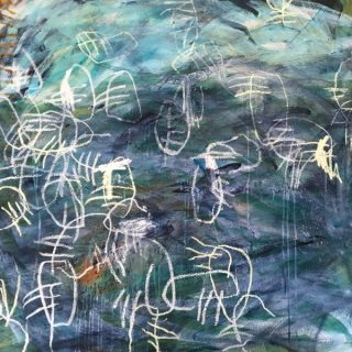 Abundance, acrylic & mixed media on canvas, 101 x 101cm