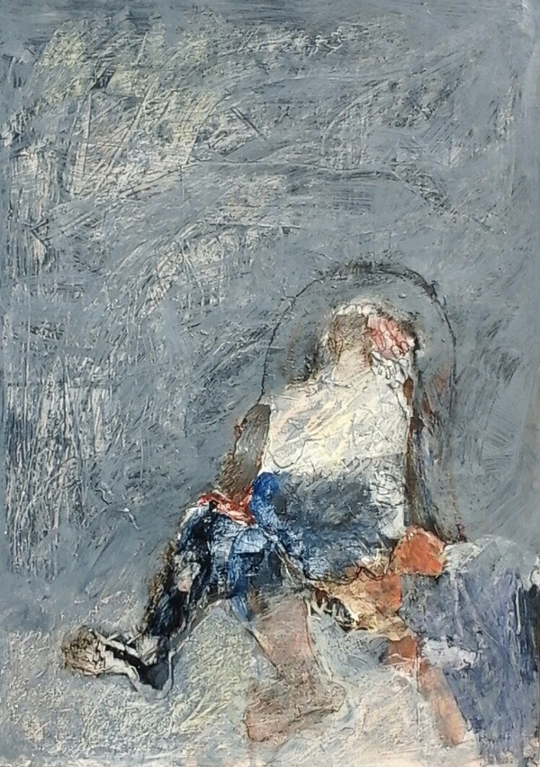 Sitting Woman Series no. 12 acrylic on paper 59 x 42cm