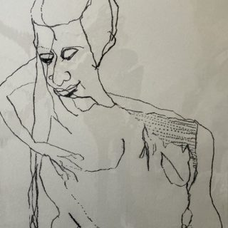 Life Drawing in June 2, charcoal on paper, 73 x 92cm
