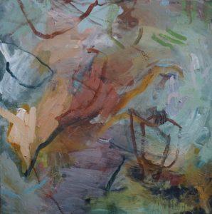 Marking time acrylic on canvas 91 x 91 cm