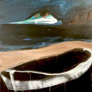 Moonlight Stroll, acrylic on canvas, 102 x 76cm