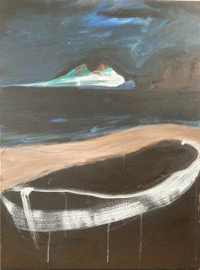 Moonlight stroll, acrylic on canvas, 102 x 76cm, jpg copy