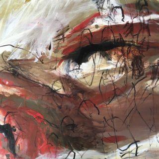 Of The Land, acrylic on canvas, 101 x101cm