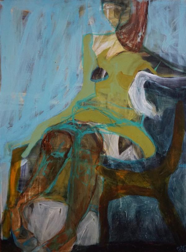 Repose acrylic on canvas, 102 x 76cm