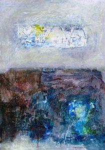 Rite of passage 3, acrylic on paper, 59 x 42cm