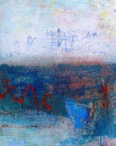 River and bridge 1, acrylic on canvas, 51 x 41cm