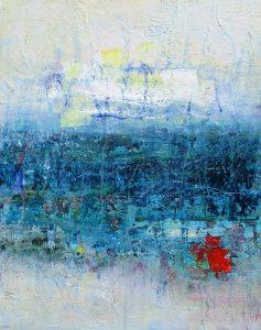 River and bridge 2, acrylic on canvas, 51 x 41cm