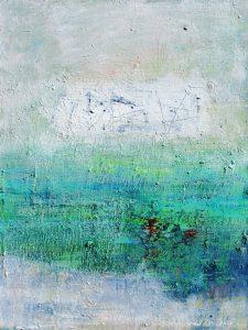 River and bridge 3, acrylic on canvas, 61 x 46cm