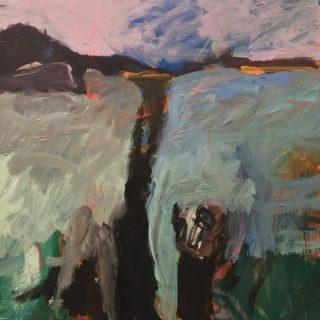 Sugar Loaf Bay, acrylic on canvas, 61 x 61cm