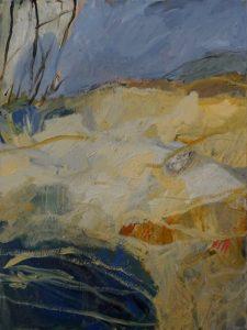 Sugarloaf bay acrylic on canvas, 101 x 76 cm