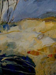 Sugarloaf bay acrylic on canvas, 101 x 76cm