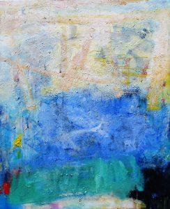 Transitioning, acrylic on canvas, 101 x 84cm