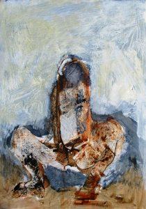 Unforgiven, acrylic on paper, 59 x 42cm